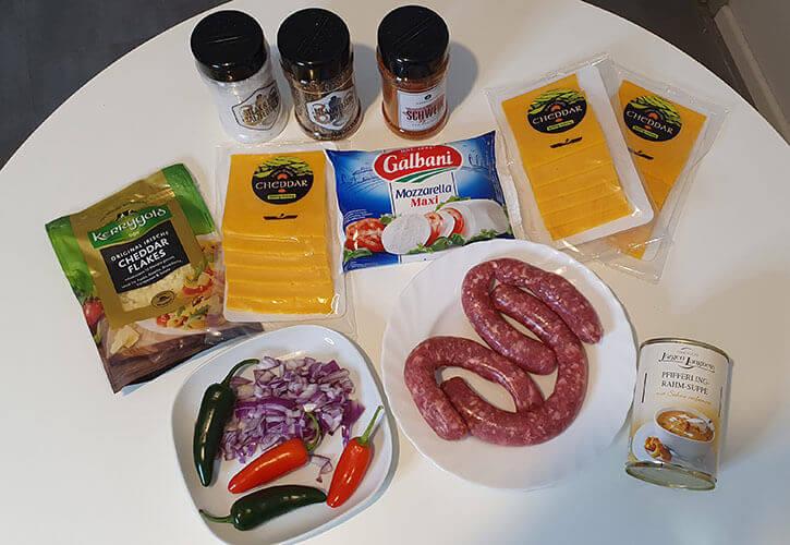 Zutaten-für-einen-Käse-Dip-oder-Queso